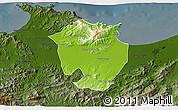 Physical 3D Map of Annaba, darken