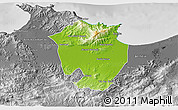 Physical 3D Map of Annaba, desaturated