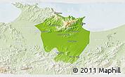 Physical 3D Map of Annaba, lighten