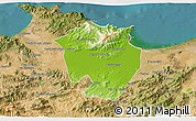Physical 3D Map of Annaba, satellite outside