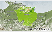 Physical 3D Map of Annaba, semi-desaturated