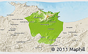 Physical 3D Map of Annaba, shaded relief outside