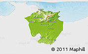 Physical 3D Map of Annaba, single color outside