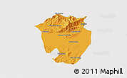 Political 3D Map of Annaba, cropped outside