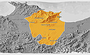 Political 3D Map of Annaba, desaturated