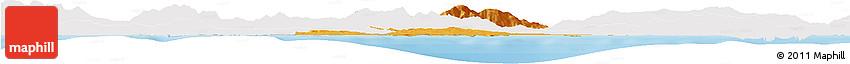 Political Horizon Map of Annaba, single color outside
