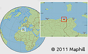 Savanna Style Location Map of Annaba
