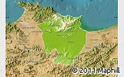 Physical Map of Annaba, satellite outside