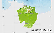 Physical Map of Annaba, single color outside