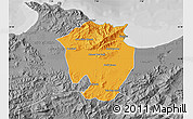 Political Map of Annaba, desaturated