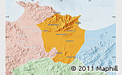 Political Map of Annaba, lighten