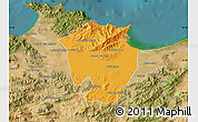 Political Map of Annaba, satellite outside