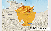 Political Map of Annaba, shaded relief outside