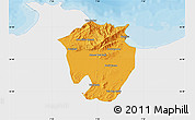 Political Map of Annaba, single color outside