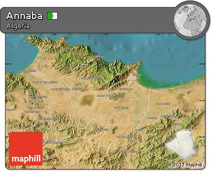 Free Satellite Map of Annaba