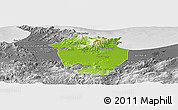 Physical Panoramic Map of Annaba, desaturated