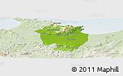 Physical Panoramic Map of Annaba, lighten