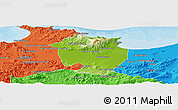 Physical Panoramic Map of Annaba, political outside