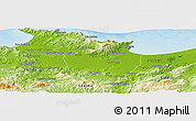 Physical Panoramic Map of Annaba