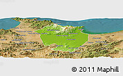 Physical Panoramic Map of Annaba, satellite outside