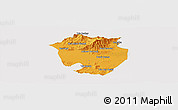 Political Panoramic Map of Annaba, cropped outside