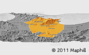 Political Panoramic Map of Annaba, desaturated