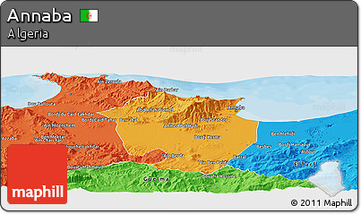 Political Panoramic Map of Annaba