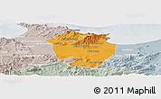 Political Panoramic Map of Annaba, lighten, semi-desaturated