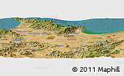 Satellite Panoramic Map of Annaba