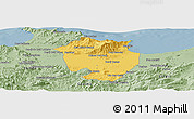 Savanna Style Panoramic Map of Annaba