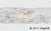 Shaded Relief Panoramic Map of Annaba, desaturated