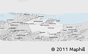Silver Style Panoramic Map of Annaba