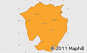 Political Simple Map of Annaba, cropped outside