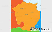 Political Simple Map of Annaba