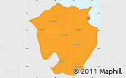 Political Simple Map of Annaba, single color outside