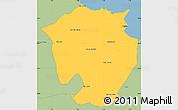 Savanna Style Simple Map of Annaba