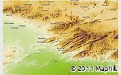 Physical 3D Map of Batna