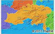Political 3D Map of Batna