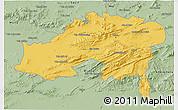 Savanna Style 3D Map of Batna