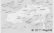 Silver Style 3D Map of Batna