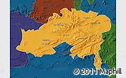 Political Map of Batna, darken