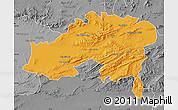 Political Map of Batna, desaturated