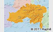 Political Map of Batna, lighten