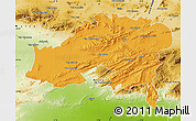 Political Map of Batna, physical outside