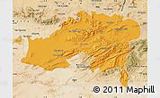 Political Map of Batna, satellite outside