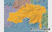 Political Map of Batna, semi-desaturated