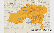 Political Map of Batna, shaded relief outside
