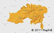 Political Map of Batna, single color outside