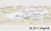 Classic Style Panoramic Map of Batna