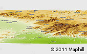 Physical Panoramic Map of Batna